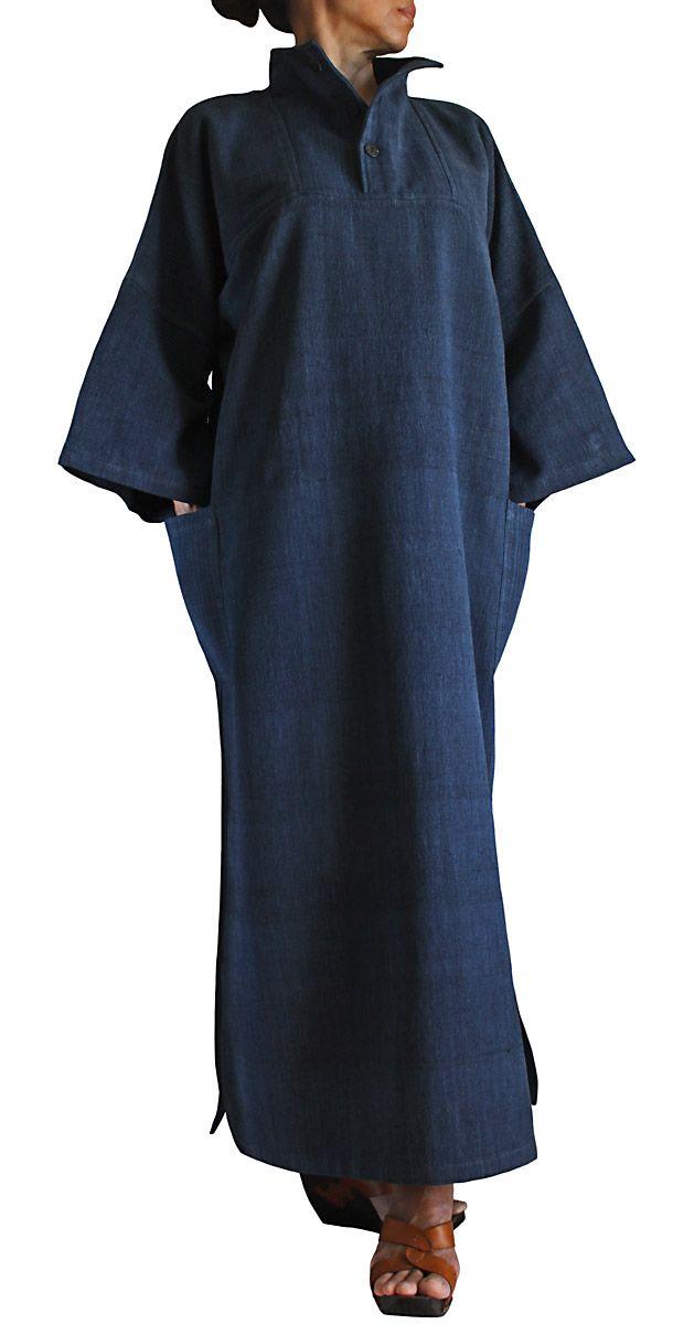 ジョムトン手織綿ハイネックドレス