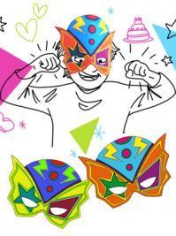 Le masque de super-héros à colorier