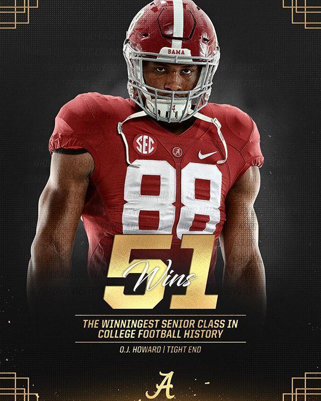 buy online 2b78b e3a07 O.J Howard..The winningest class in college football history ...