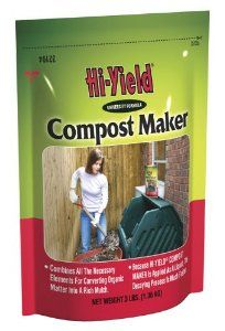 Fertilome 32194 Compost Maker by Fertilome. $9.25. Dry use 1 cup per compost layer, watered in. 3 lbs. Combines all the necessary elements for converting organic matter into rich humus. Liquid use 1cup to 1 gallon of water. May be applied as a liquid to speed up composting process. Make Your Own Fertilizer From Lawn And Food Waste With Fertilome Hi Yield Compost Maker. Compost Maker speeds up the decomposting process. Mix Compost Maker with water and apply to each l...