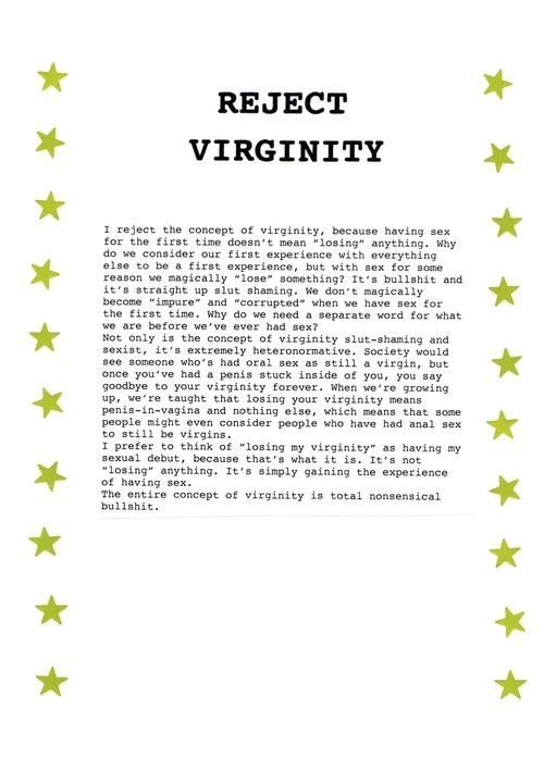 concept of virginity a little mind fucking going on