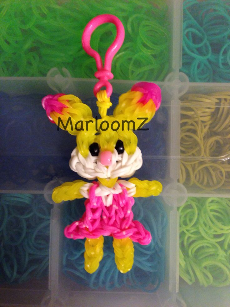 Rainbow Loom Bunny (MarloomZ creations )
