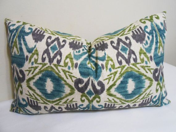 blue and white outdoor lumbar pillows indoor pillow cover turquoise purple lime green pattern target