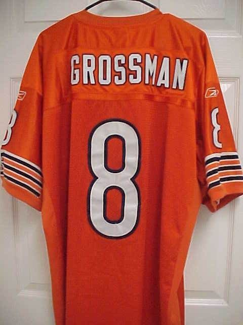 9cd6c1239bc REX GROSSMAN 8 Chicago Bears Orange Stitched Sewn Football Jersey 54 Reebok  NFL #Reebok #ChicagoBears