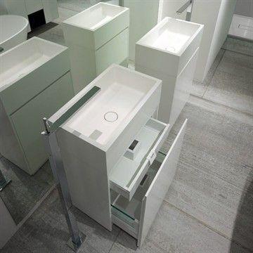 All in Onw - Fritstående håndvask med skab i genialt design!