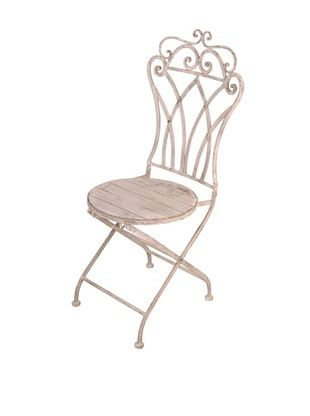 44% OFF Esschert Design USA Aged Metal Folding Curved-Back Bistro Chair