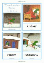 Woordkaarten - Kikker in de kou - klein