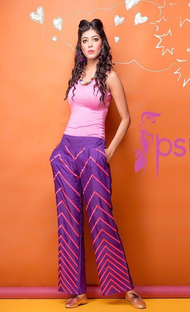 Psyna Soft Mudal Fabric Colourful Palazzo