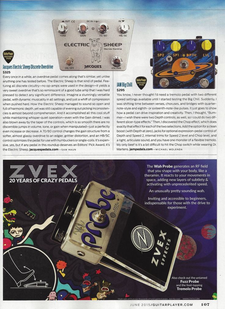 After a wonderful review of our pedals on Guitarist magazine for their March 2015 issue, we are happy to get yet another great review for the June 2015 issue of Guitar Player Magazine Special mention: #TheBigChill is the Guitarist's Choice and the Guitar Player Editor's Pick ! Check it out ! We're happy ! #jampedals