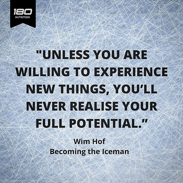 Words of wisdom from Wim Hof - The Iceman who recently joined us on 180TV. This guy is able to change his biology using breath + ice. We learned A LOT from him: 180TV on the website now. - Stu
