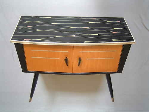 1950s mini sideboard credenza commode 60s mid century modern Danish vintage