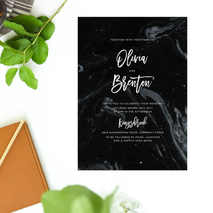 Black Marble Granite Marble Wedding Invitations – Granite by Sail and Swan white calligraphy writing wedding invites australia sydney perth melbourne brisbane elegant luxe marble invites simple clean sophisticated modern contemporary wedding invites by sail and swan