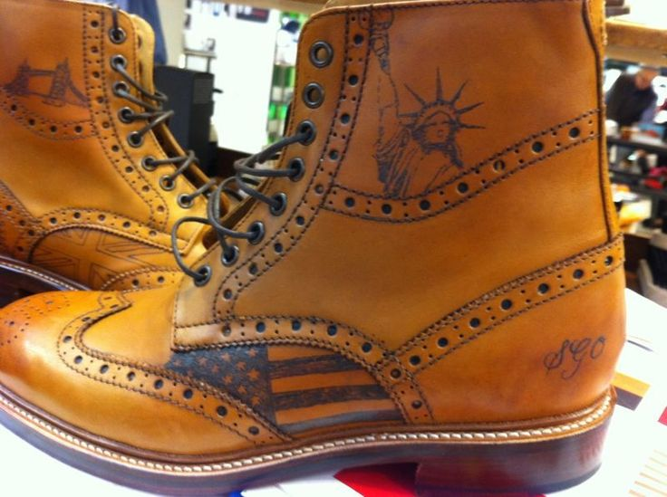 Sweeney Tattoos on our Wren Tan brogue boot