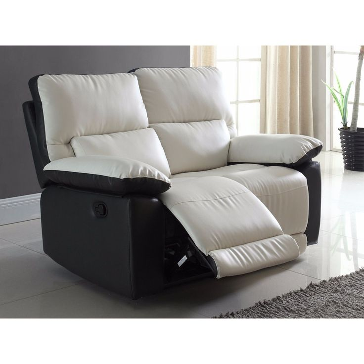 Madison Modern Two Tone Bonded Leather Oversize Recliner Loveseat (White u0026 Black) (Fabric  sc 1 st  Pinterest & Best 25+ Oversized recliner ideas on Pinterest | Bedroom armchair ... islam-shia.org