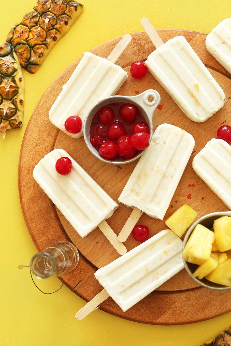 Piña Colada Popsicles | Minimalist Baker Recipes