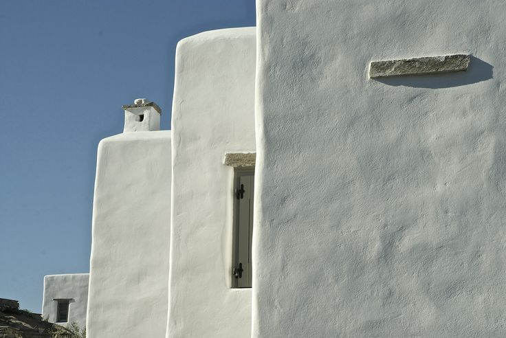 Architectural details of Cycladic residences in Paros island, Greece. There are no dull walls!