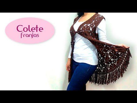 Colete com franjas (crochê) - YouTube
