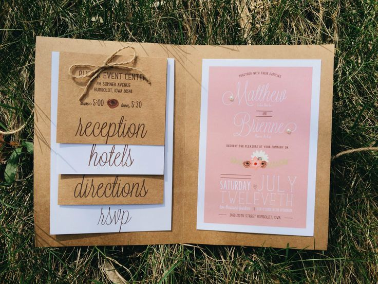 Country Shabby Chic Wedding Invites