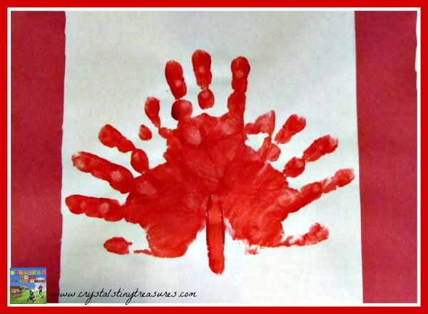 Handprint Canadian Flags are fun for kids to make for Canada Day, or all year round.
