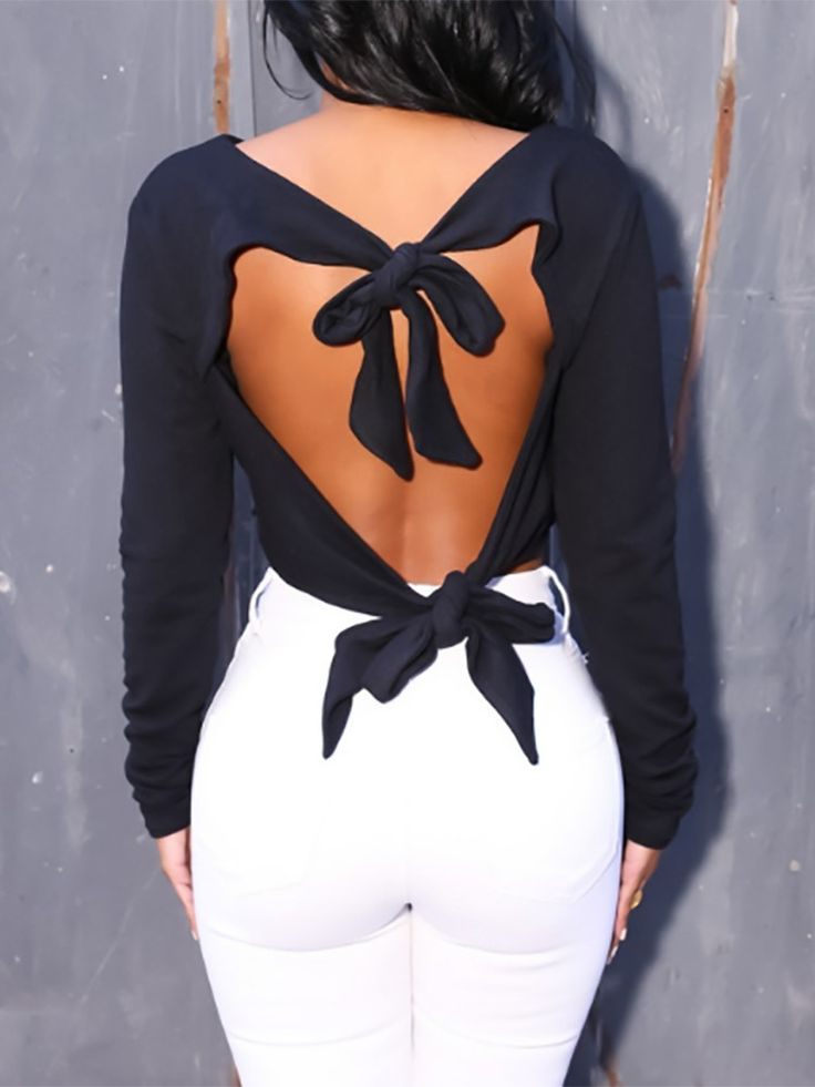 Hot Spring Knotted Hollow Back Cropped Top