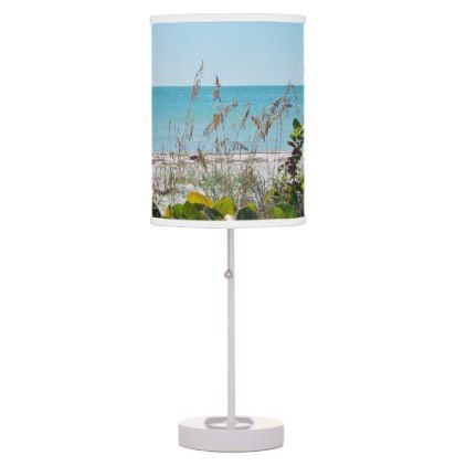 Tropical Beach Desk Lamp - diy cyo customize create your own personalize