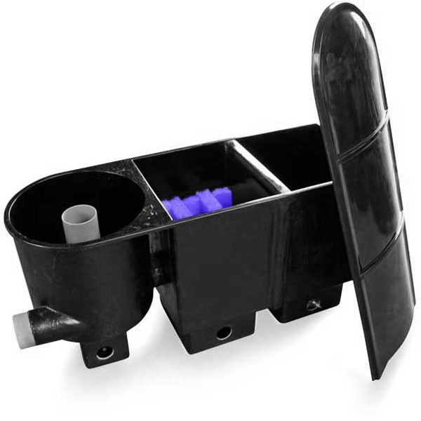 Vijver-shop vijverfilter, Vortex + 2 kamers Biologisch filter - compleet - 125 x 46 x 65 cm - Compleet met deksel #vijvershop #vijverfilters