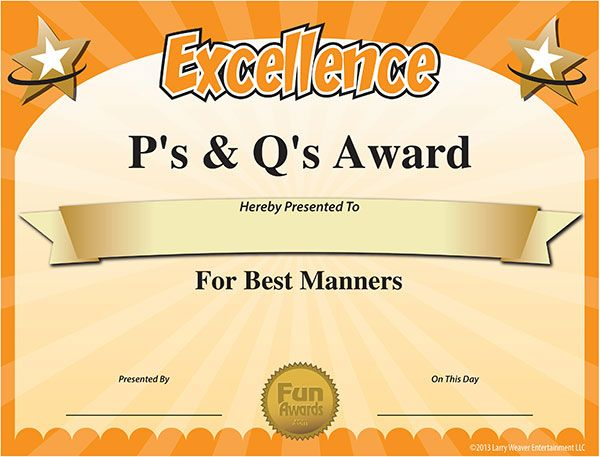 7 best certificates images on Pinterest Funny certificates, Award - award templates