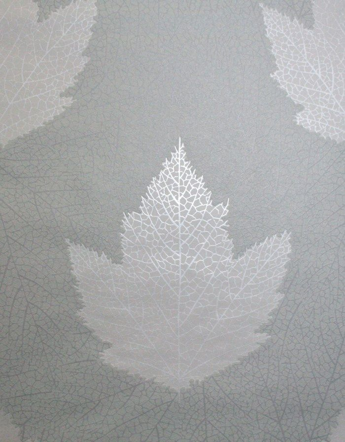 Maple Gray Wallpaper - Leaf Wall Coverings by Graham  Brown