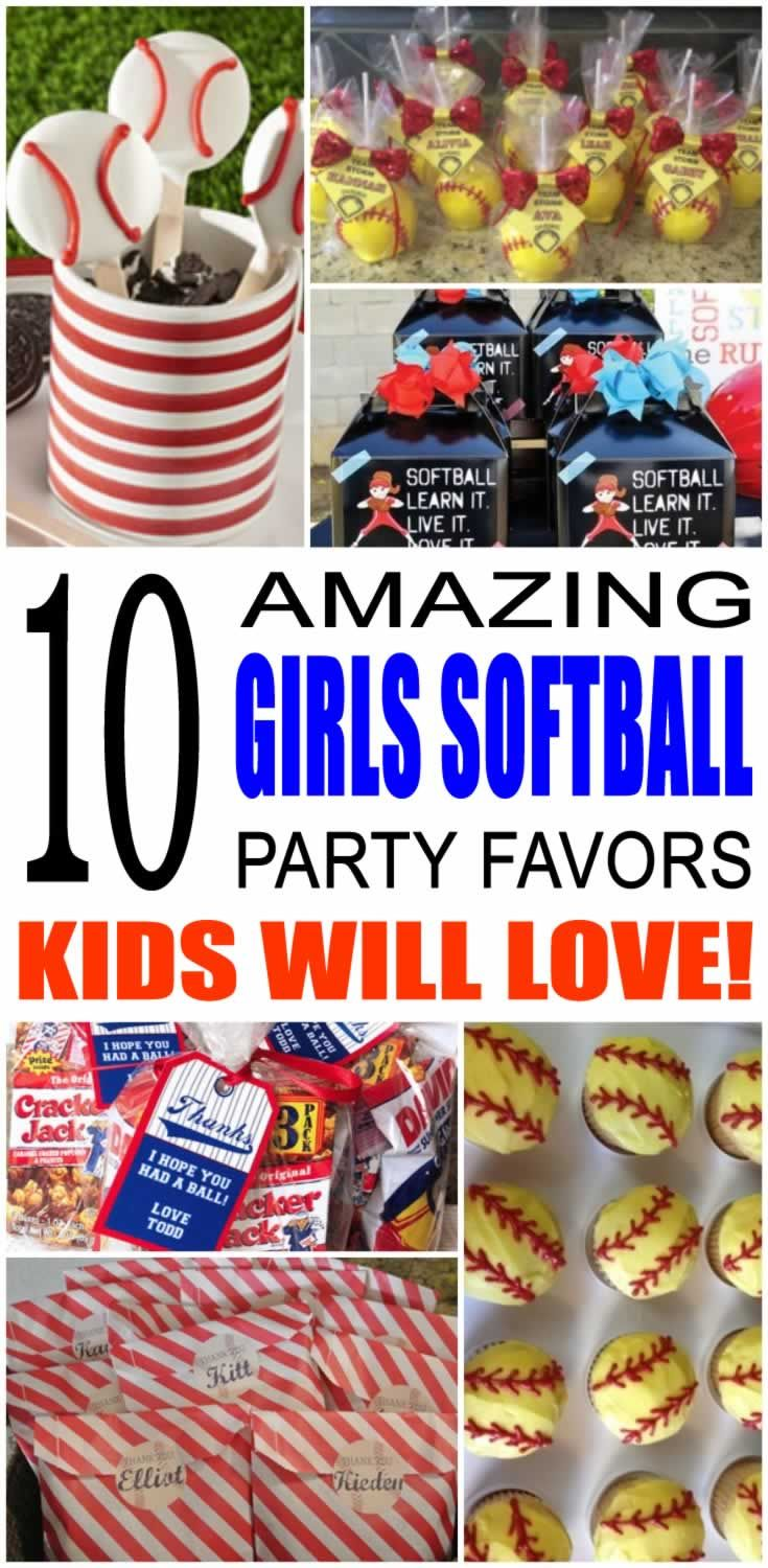 Find the best girls softball party favor ideas for kids. There are so many cool girls softball party favor ideas from goodie bags to candy, these girls softball party favor ideas are sure to be a hit with all the children. Easy, fun ideas for treats that any boy or girl would love to take home.