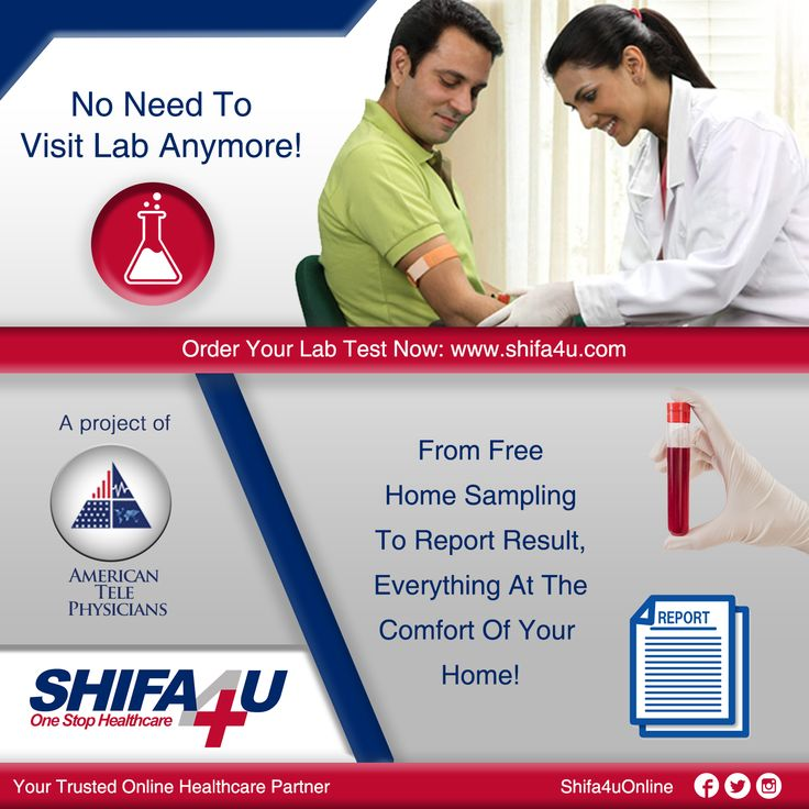 No Need To Visit Lab Anymore! From Free Home Sampling To Report Result & Free Recommendations On Your Reports From Our American Healthcare Experts At The Comfort Of Your Home! Order Your Lab Test Now: www.shifa4u.com  #LabTest #LabTestOnline #Free #HomeSampling #Report #Result #FreeRecommendation #American #Experts #Health #Healthcare #DigitalHeatlhcare #Shifa4U