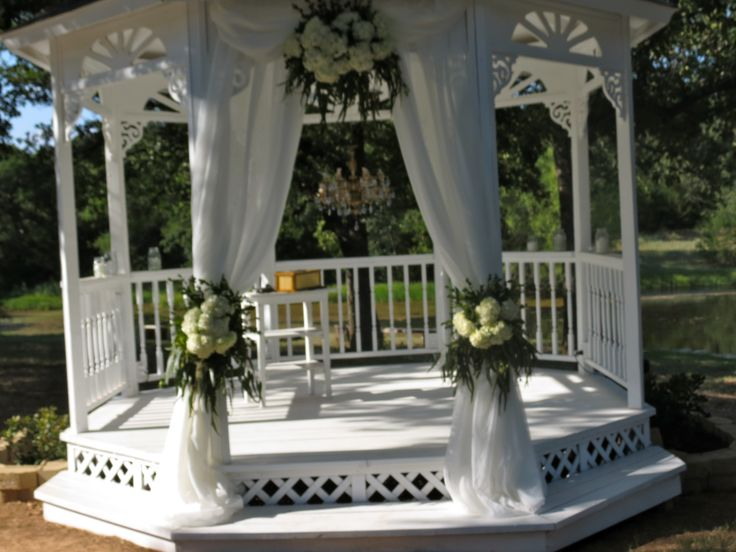 gazebo decor crystal 39 s wedding flowers pinterest. Black Bedroom Furniture Sets. Home Design Ideas