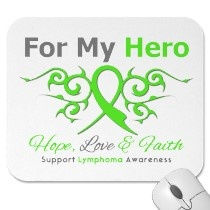 lymphoma cancer tribal ribbon hero mousepad