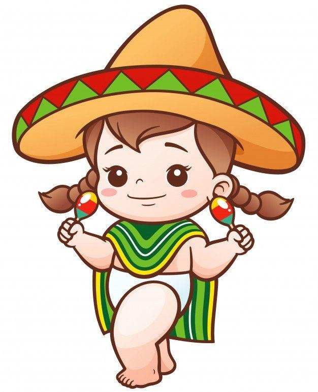 Nina De Dibujos Animados Desgaste Mexica Premium Vector Freepik Vector Bebe Chica Caracter Di Nina Mexicana Ilustracion Vectorial Caricatura De Bebe
