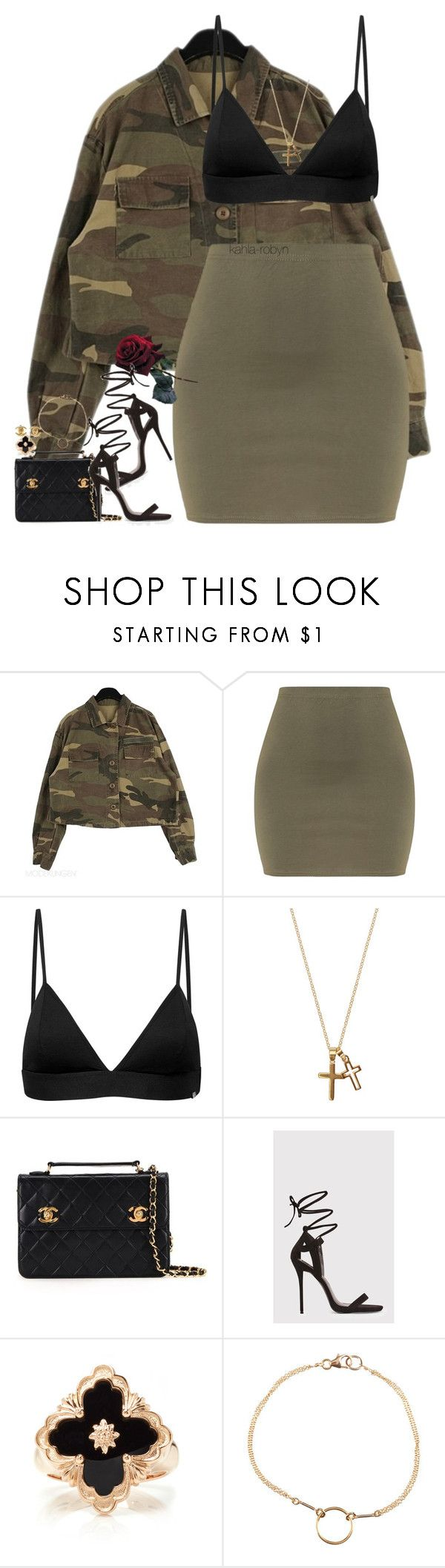 """""""IX   XXVIII   XVII"""" by kahla-robyn ❤ liked on Polyvore featuring Vyayama, Chanel, Buccellati and Dogeared"""