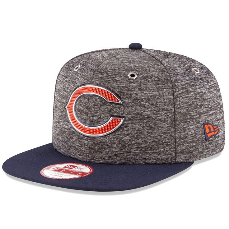 Chicago Bears New Era Youth NFL Draft Original Fit 9FIFTY Adjustable Hat - Heathered Gray/Heather Gray - $22.39