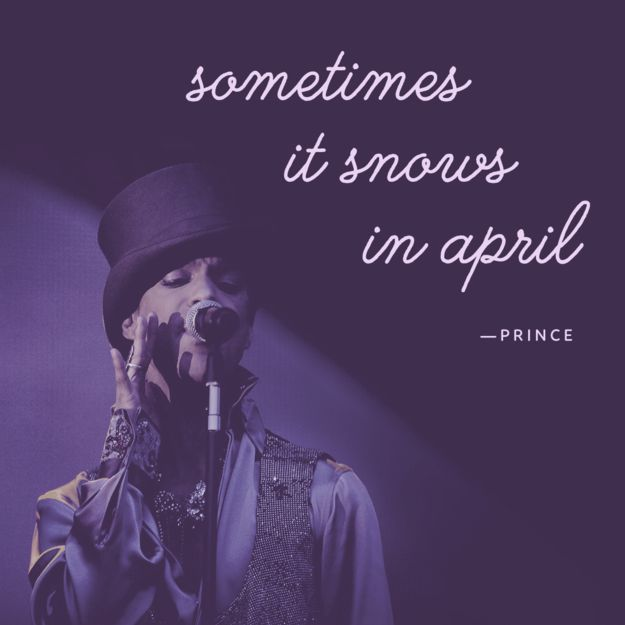 On the unexpected: | 11 Prince Quotes That'll Make You Love Him Even More