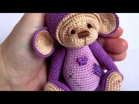 Маленькая обезьянка амигуруми. Схемы и описания для вязания игрушек крючком!