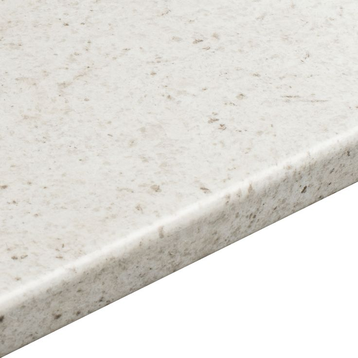 38mm B&Q White Cashmere Etched Round Edge Kitchen Worktop (L)3.6m (D)600mm  Product code:     03699997  Price  £98