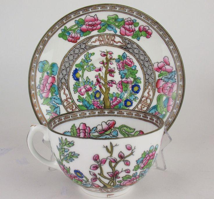 5 x Tea Cups Saucers Coalport Indian Tree Smooth Vintage England Teacups | eBay