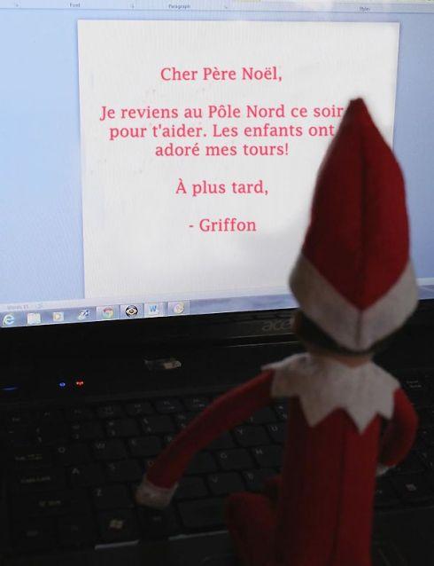 Lutin écrit au Père Noël