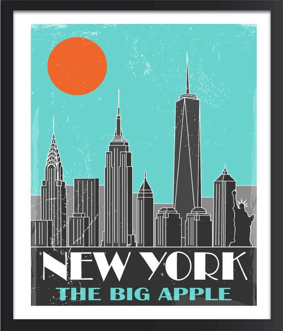 Art Deco New York Poster