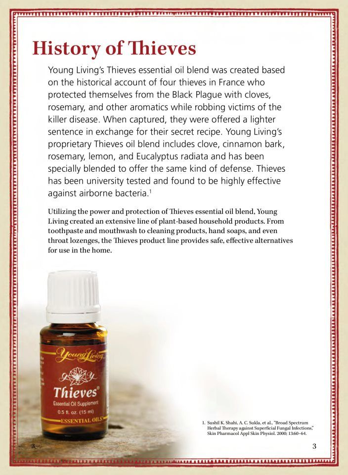 the History of Young Living Thieves Essential Oil
