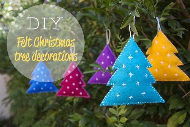 DIY - Felt christmas decorations