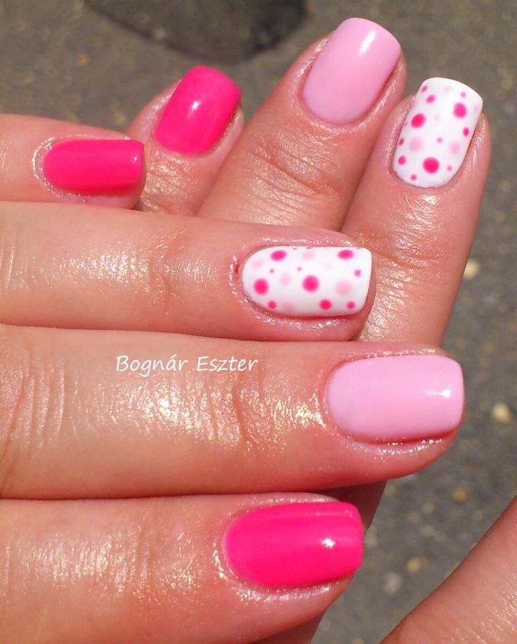 OPI-Strawberry Margarita & Orly-Elevate the Veil & Orly White Ideas- with dots # pin…