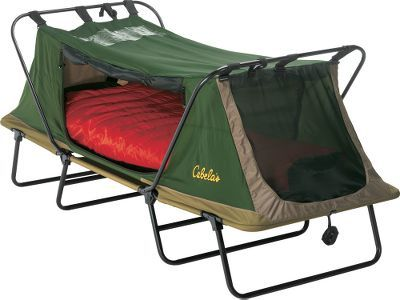Cabela's Deluxe Tent Cot – Single テントフライも附属したテントコット。自由な場所でノンビリ休息を。