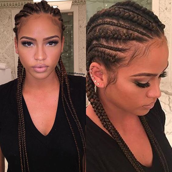 "Don't Sleep On Black Women on Instagram: ""@cassie's cornrows ✨"""