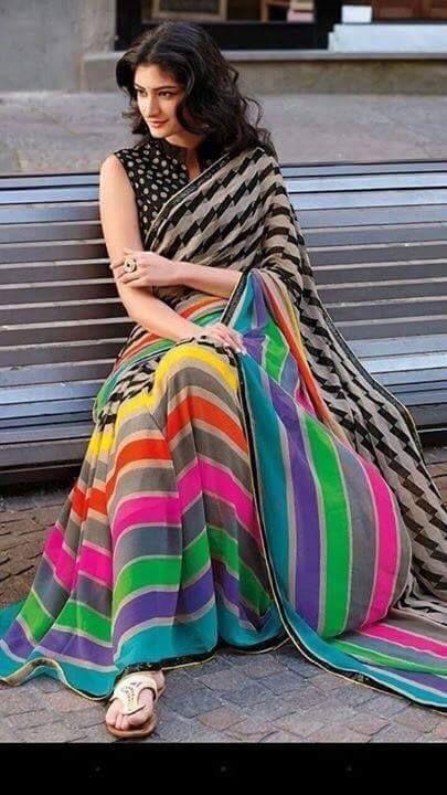 Phirangi Bahu Multi Color Print Designer casualwear Saree