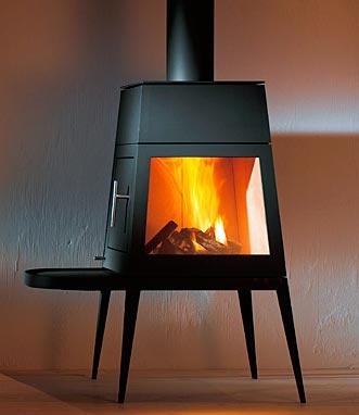 Shaker wood-burning stove by Antonio Citterio
