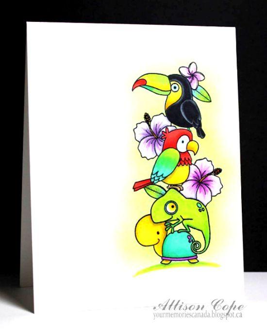 Birdie Brown Polynesian Paradise stamp set - Allison Cope Israels #mftstamps