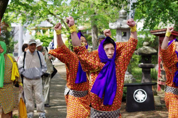 13 Akita Hachirogata town Gannin Dance Japan 2015 2015年5月5日 八郎潟町 一日市神社 大人願人踊り